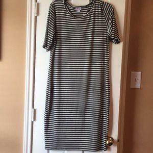 Dresses & Skirts - Julia LulaRoe Dress (Green/White Striped)